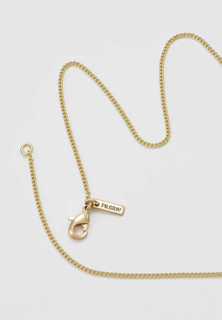 Gold coloured CCollier Necklace Necklace Pilgrim Pilgrim IWeEH9YD2
