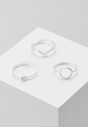 SPECIAL DESIGN 3 PACK - Ringe - silver-coloured