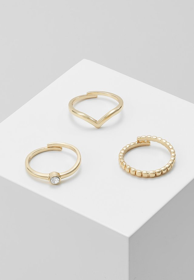 SPECIAL DESIGN 3 PACK - Ringe - gold-coloured