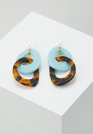 EARRINGS  - Kolczyki - brown
