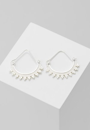 EARRINGS KIKU - Oorbellen - silver-coloured