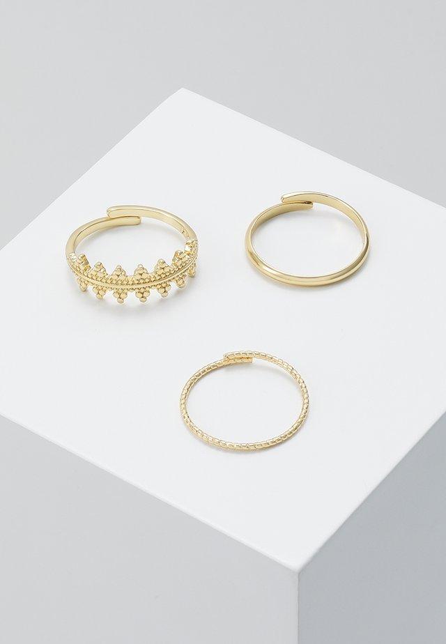 RING KIKU 3 PACK - Prsten - gold-coloured