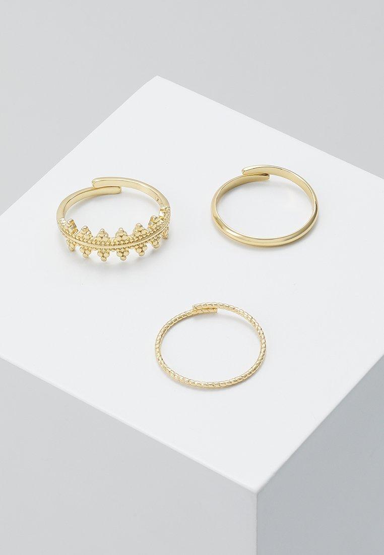 Pilgrim - RING KIKU 3 PACK - Ring - gold-coloured