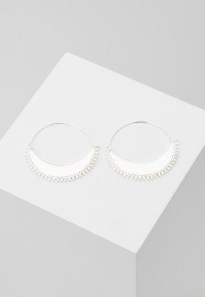EARRINGS KIKU - Øreringe - silver-coloured