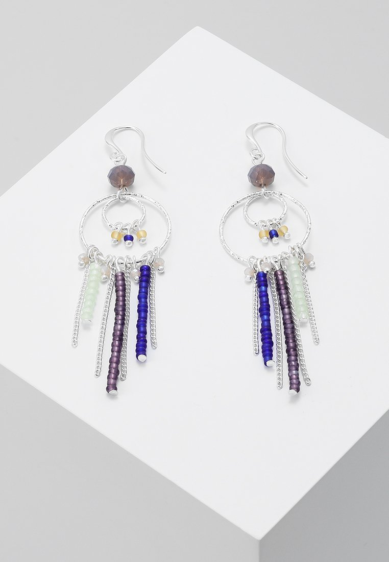Pilgrim - EARRINGS KIKU - Örhänge - silver-coloured