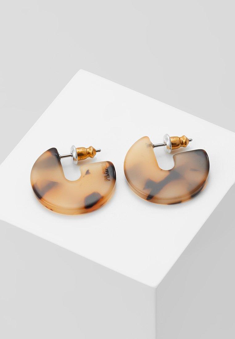 Pilgrim - EARRINGS MIKA - Earrings - gold-coloured/brown