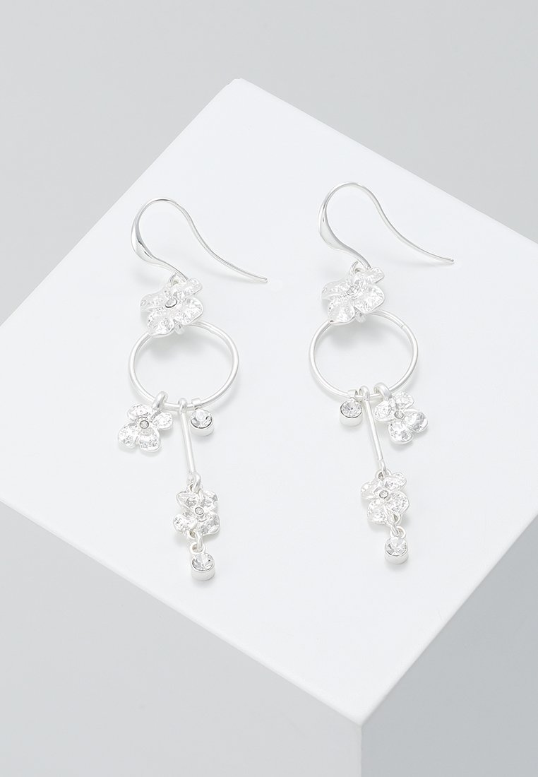 Pilgrim - EARRINGS JUSTINE - Oorbellen - silver-coloured