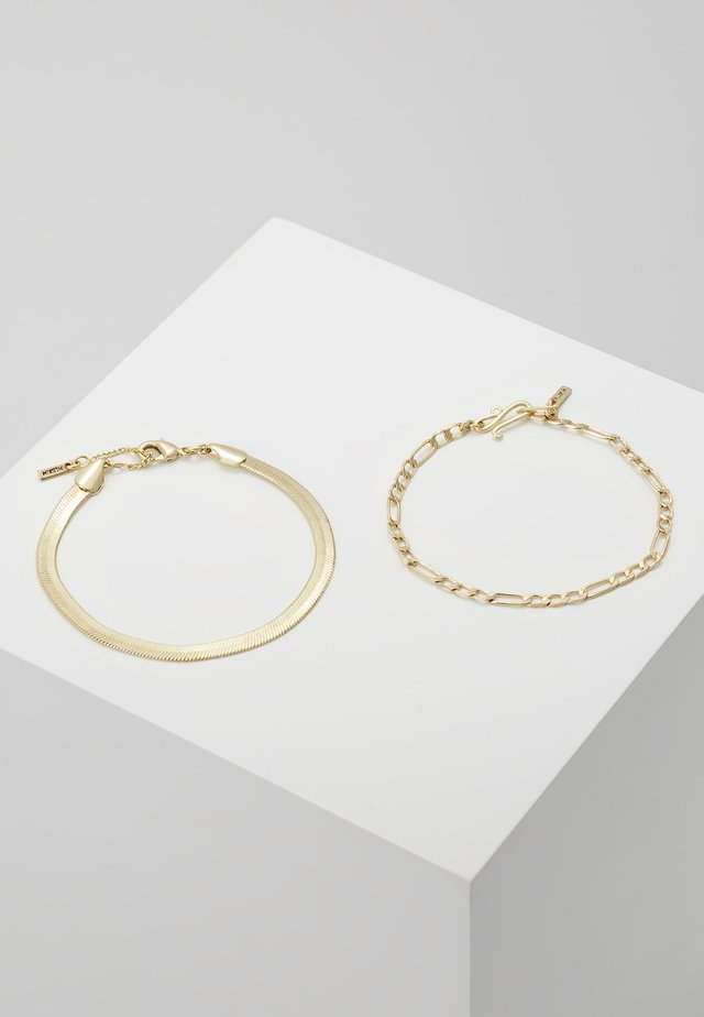 BRACELET 2 PACK - Armband - gold-coloured