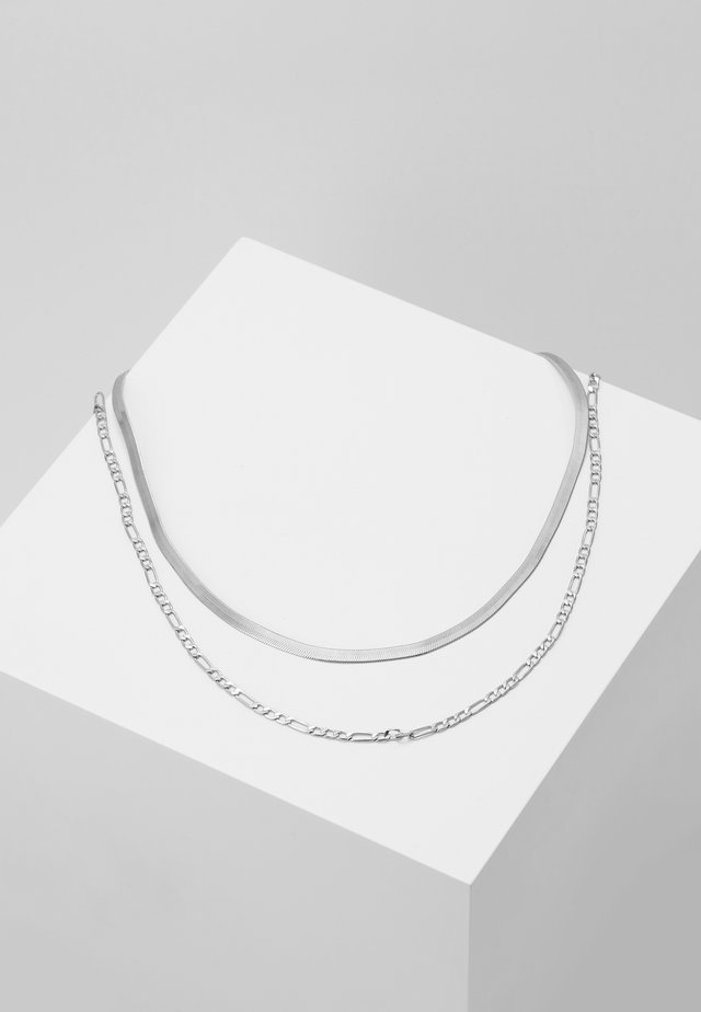 NECKLACE 2-IN-1 - Kaulakoru - silver-coloured