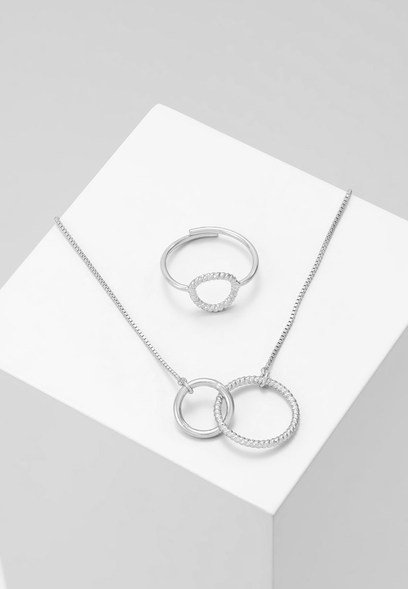 Pilgrim - JEWELRY SET - Náhrdelník - silver-coloured