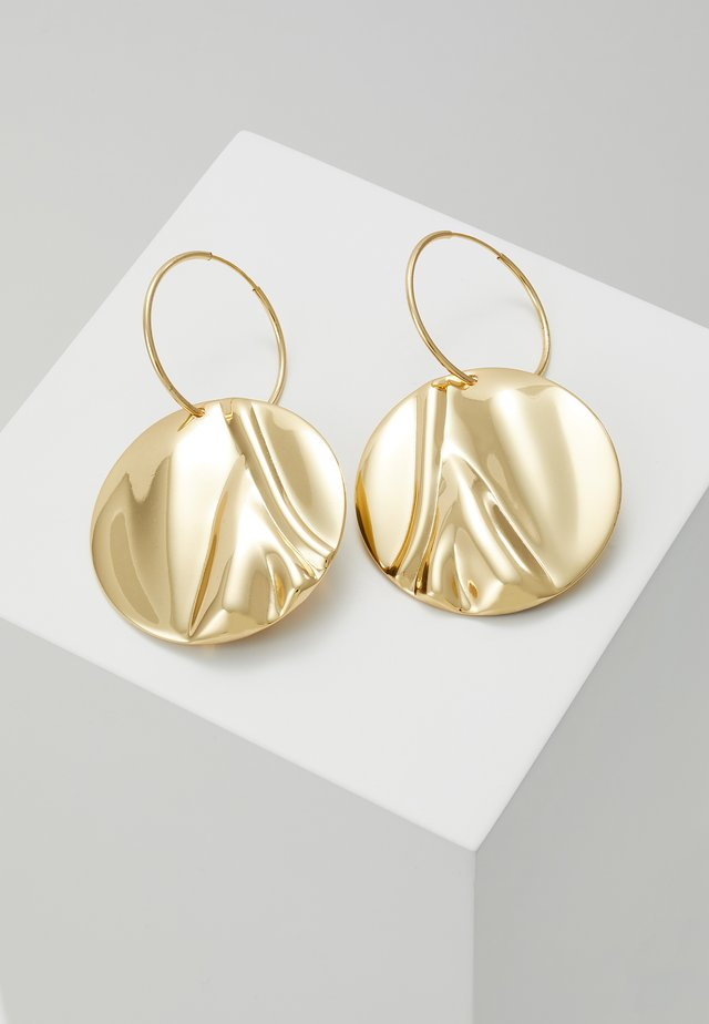EARRINGS WATER - Oorbellen - gold-coloured