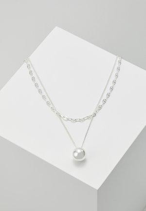 NECKLACE EARTH SET - Kaulakoru - silver-coloured