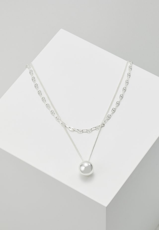 NECKLACE EARTH SET - Halsband - silver-coloured