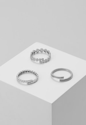 JOY 3PACK - Ringar - silver-coloured