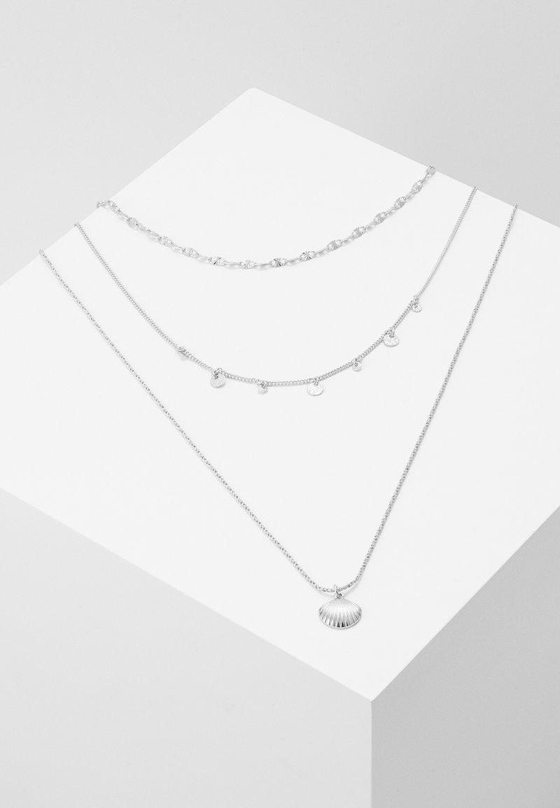 Pilgrim - NECKLACE LOVE - Náhrdelník - silver-coloured