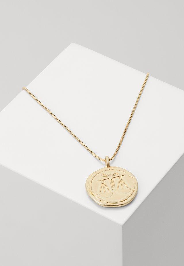 NECKLACE LIBRA ZODIAC SIGN - Halskette - gold-coloured