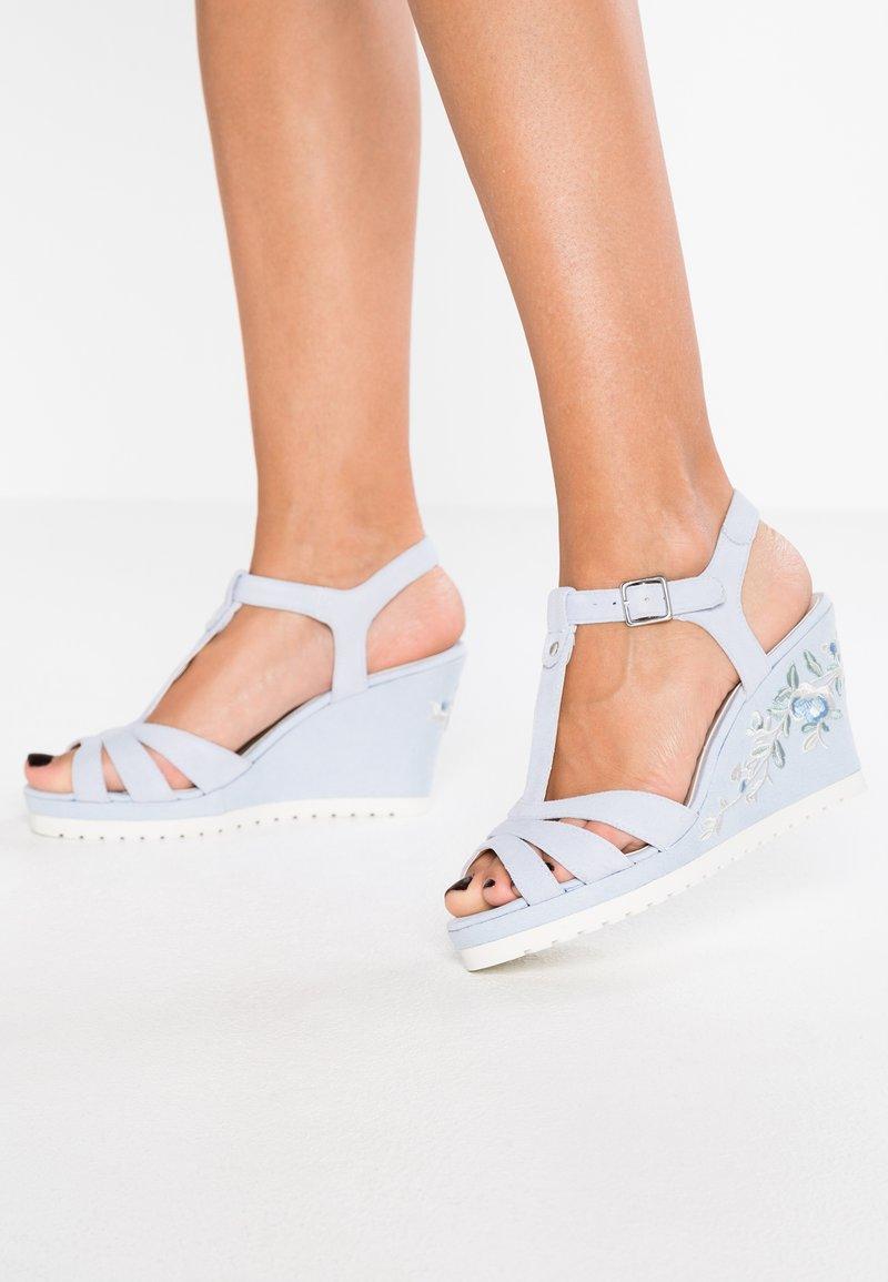 Pier One - High heeled sandals - light blue