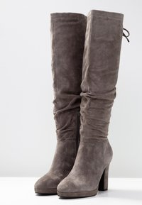 Pier One - High heeled boots - dark grey - 4