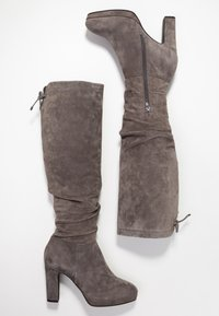 Pier One - High heeled boots - dark grey - 3