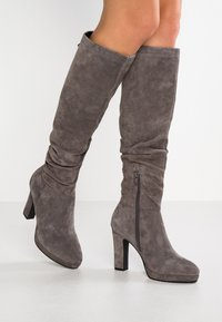 Pier One - High heeled boots - dark grey - 0