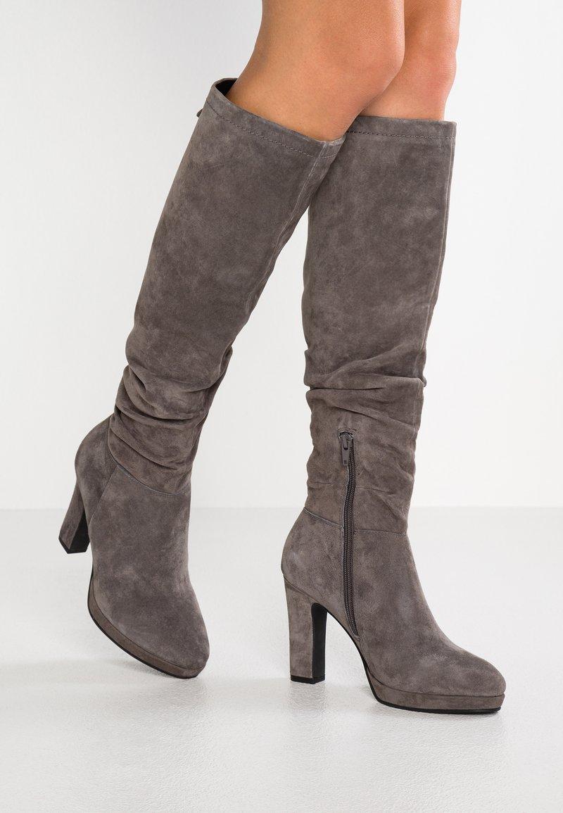 Pier One - High Heel Stiefel - dark grey