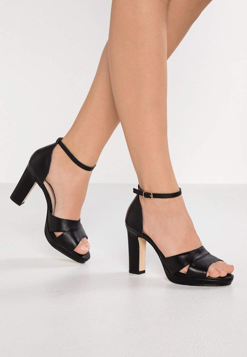 Pier One - High Heel Sandalette - black