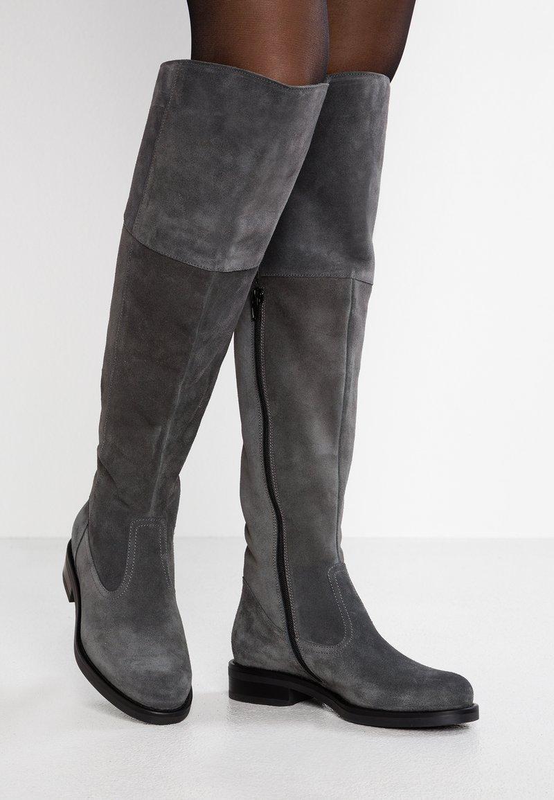 Pier One - Overknees - dark grey