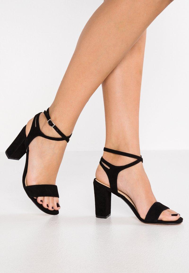 Pier One - High Heel Sandalette - black