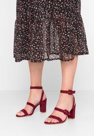 High heeled sandals - bordeaux