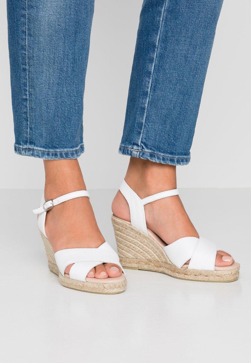 Pier One - High Heel Sandalette - white