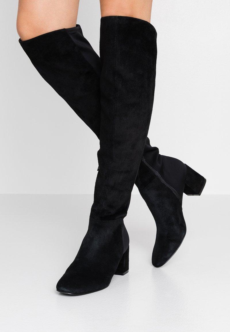 Pier One - Kozačky nad kolena - black