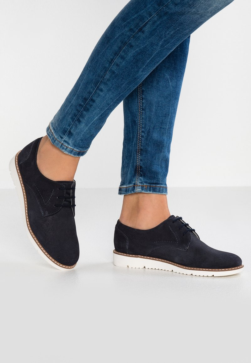 Pier One - Casual lace-ups - dark blue
