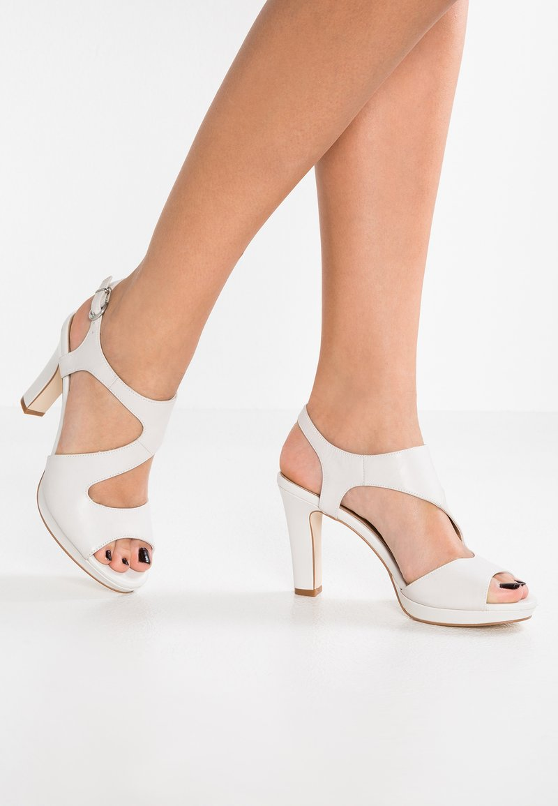 Pier One - High heeled sandals - white