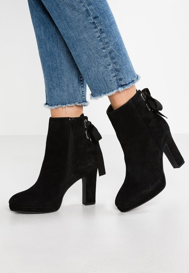 Pier One - High heeled ankle boots - black