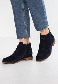 Pier One - Kotníková obuv - dark blue - 0