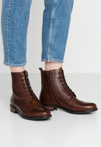 Pier One - Lace-up ankle boots - brown - 0