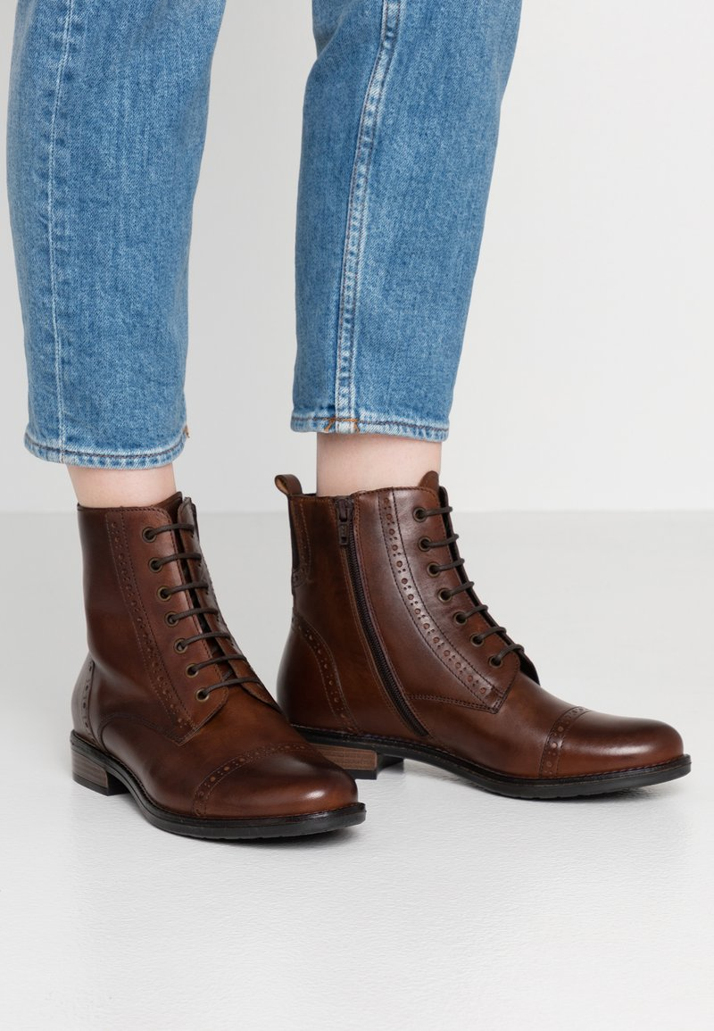 Pier One - Lace-up ankle boots - brown
