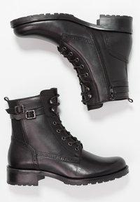 Pier One - Šněrovací kotníkové boty - black - 3