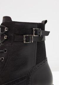 Pier One - Šněrovací kotníkové boty - black - 2
