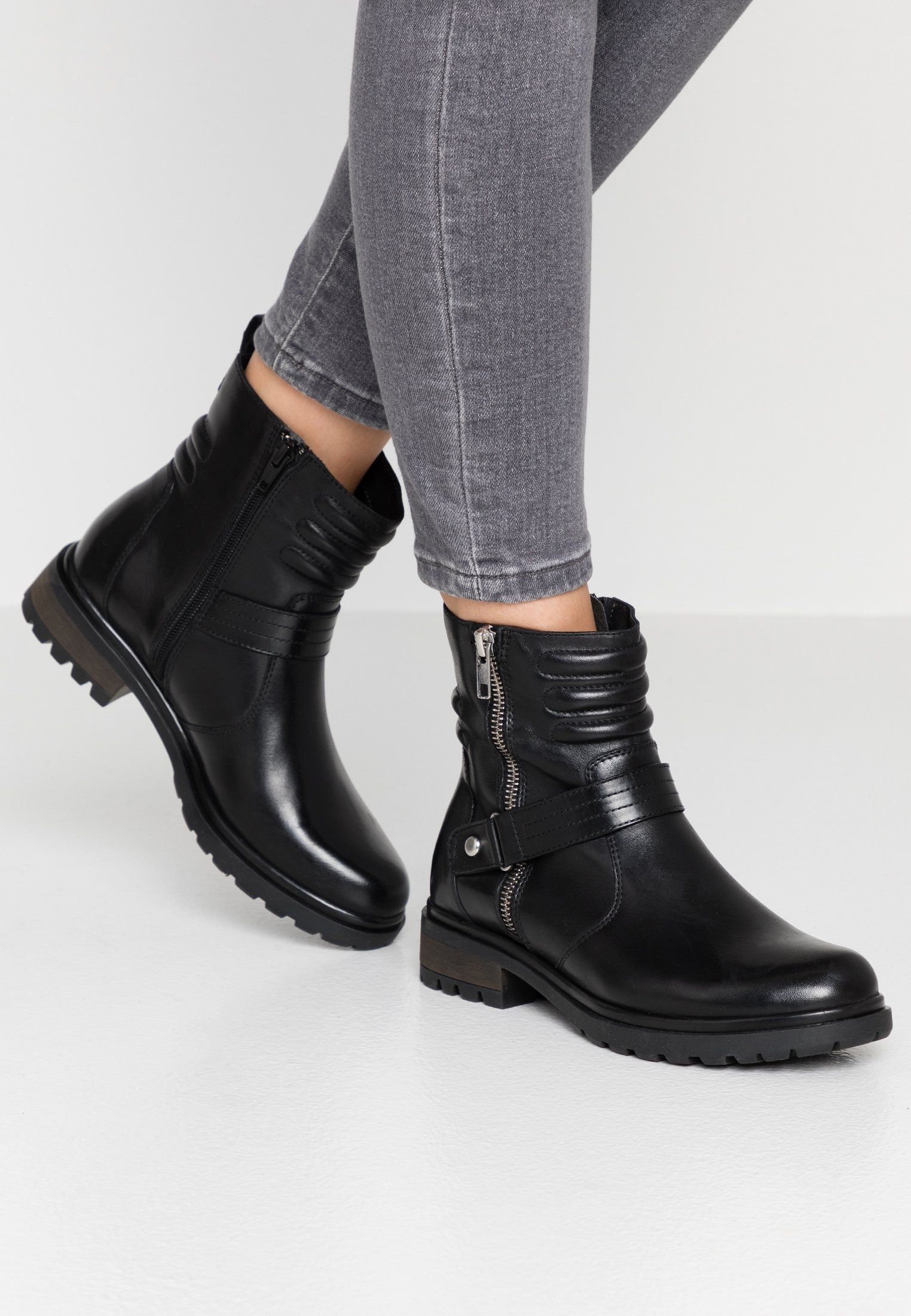 Pier One Cowboy-/Bikerstiefelette - black - Black Friday