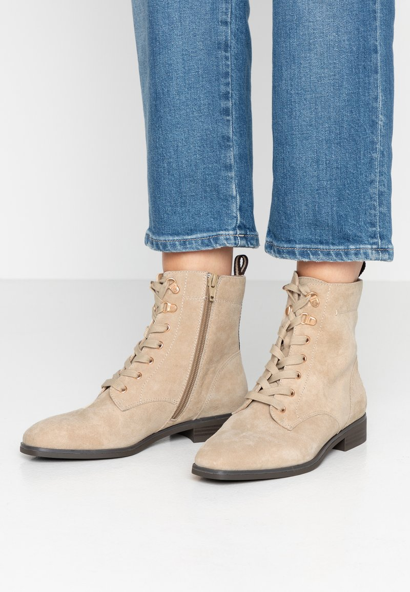 Pier One - Lace-up ankle boots - beige