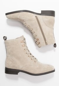 Pier One - Lace-up ankle boots - beige - 3