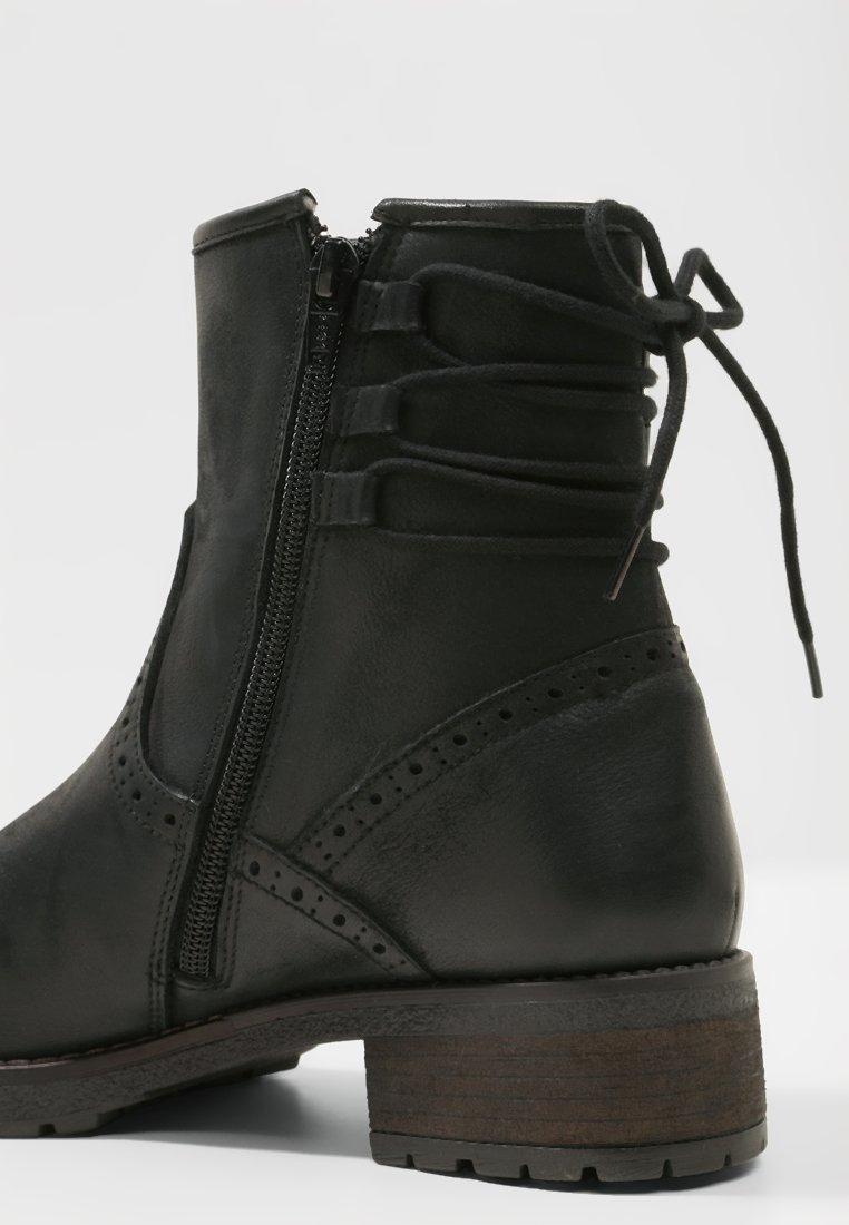 Pier black lacets Bottines à One 15FK3TuJlc