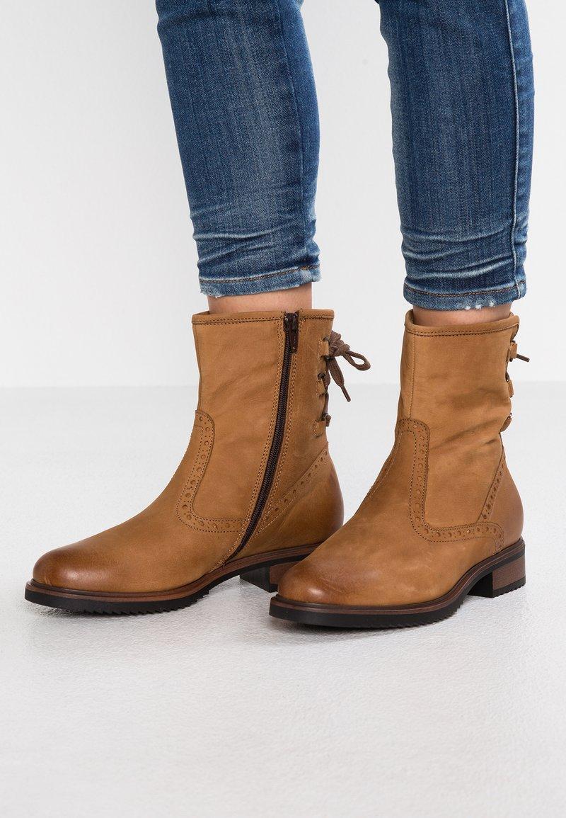 Pier One - Lace-up ankle boots - cognac