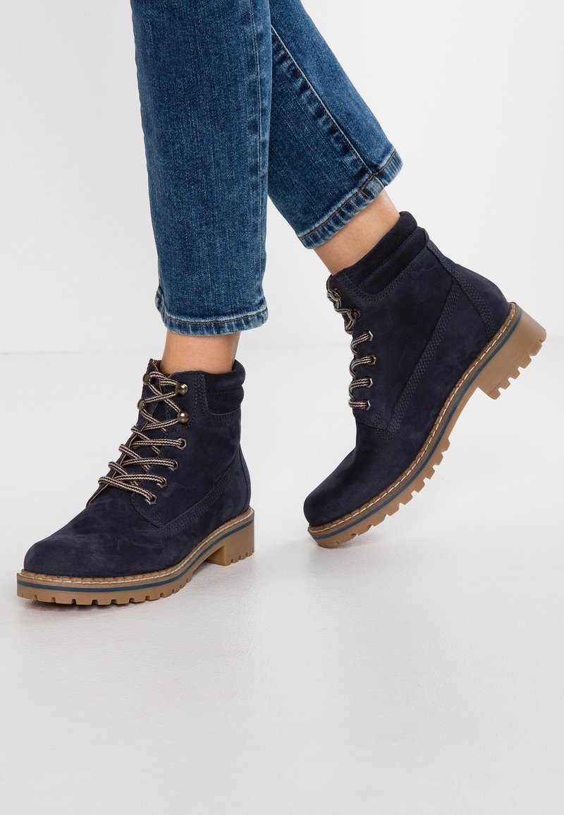 Pier One - Lace-up ankle boots - dark blue