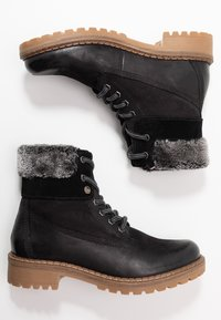 Pier One - Lace-up ankle boots - black - 3