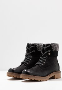 Pier One - Lace-up ankle boots - black - 4