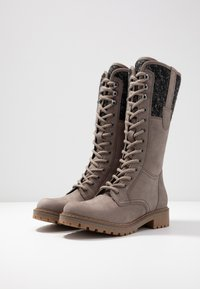 Pier One - Lace-up boots - grey - 4
