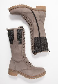 Pier One - Lace-up boots - grey - 3