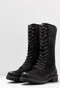 Pier One - Lace-up boots - black - 2